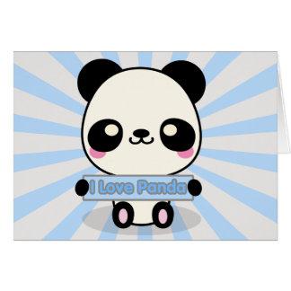 Carte J'aime le panda