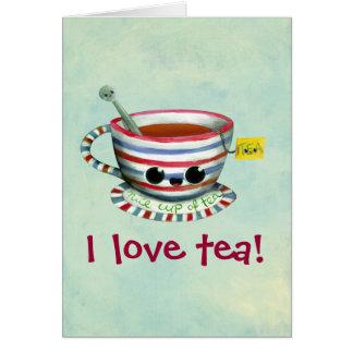 Carte J'aime le thé