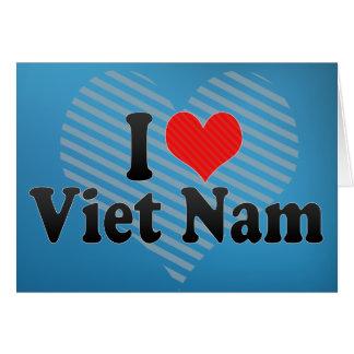 Carte J'aime le Vietnam