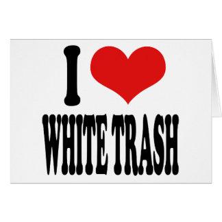 Carte J'aime les déchets blancs