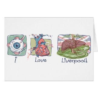 Carte J'aime l'humour de Liverpool