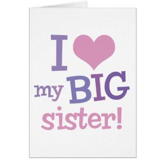 Carte J'aime ma grande soeur