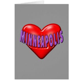Carte J'aime Minneapolis