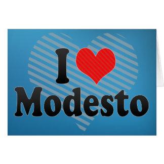 Carte J'aime Modesto