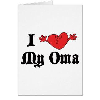 Carte J'aime mon cadeau d'Oma