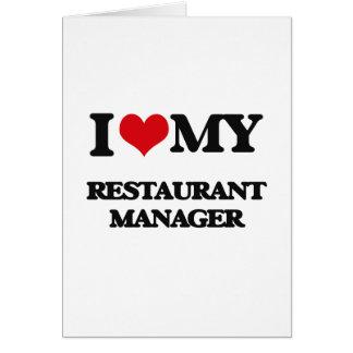 Carte J'aime mon directeur de restaurant