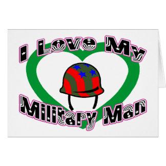 Carte J'aime mon militaire
