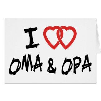 Carte J'aime Oma et Opa