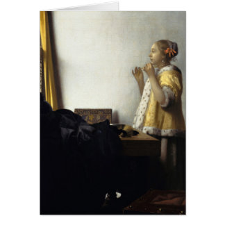 Carte Janv. Vermeer - jeune femme avec un collier de