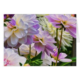 Carte Jardin coloré d'été de fleur de dahlia