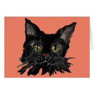 Carte JASPE - votre chat noir de HALLOWEEN