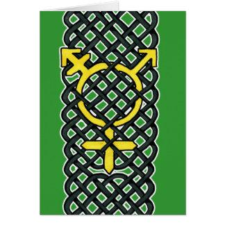 Carte Jaune celtique de symbole de transsexuel