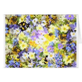 Carte Jaune de fleur de ressort en verre souillé de