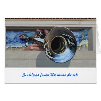 Carte Jazz mural de la côte ouest #3   de Cards~ de