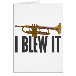 Carte Je l'ai soufflé trompette