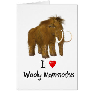 """Carte """"Je mammouth Wooly aime mammouths Wooly"""""""