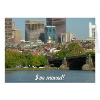 Carte Je me suis déplacé - à Boston