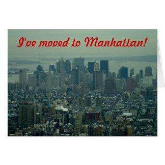 Carte Je me suis déplacé - à Manhattan