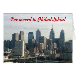 Carte Je me suis déplacé à Philadelphie