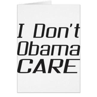 Carte Je ne fais pas conception d'obamacare