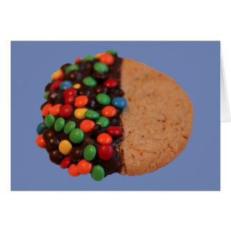 Carte Je pense que vous êtes biscuit plongé de chocolat