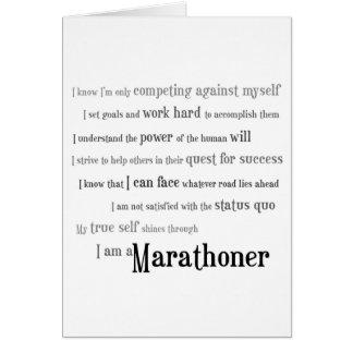 Carte Je porte bonheur de Marathoner