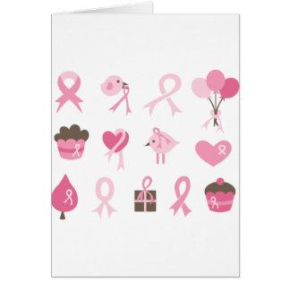 Carte Je porte le ruban rose