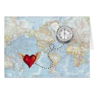 "Carte ""Je rapport de fond suivrai mon coeur"""
