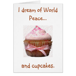 Carte Je rêve de la paix du monde…, et des petits