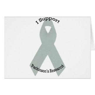 Carte Je soutiens la recherche de Parkinson