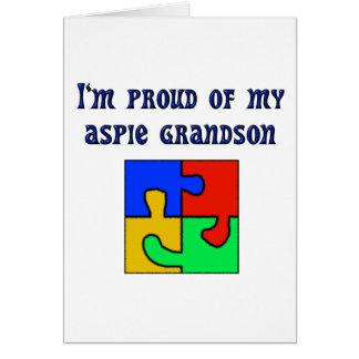Carte Je suis fier de mon petit-fils d'Aspie