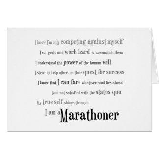 Carte Je suis un Marathoner