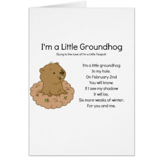 Carte Je suis un petit Groundhog