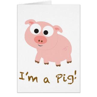 Carte Je suis un porc !