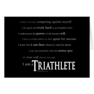 Carte Je suis un Triathlete