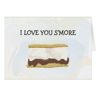 Carte Je t'aime S'more