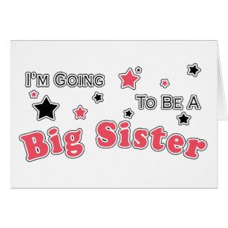 Carte Je vais être une grande soeur