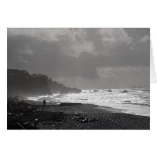 Carte Je vieillis - une promenade sur la plage