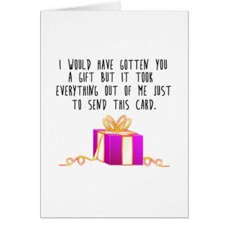 Carte Je vous aurais un cadeau…