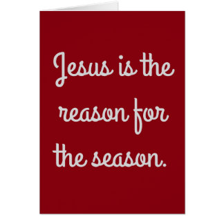 """Carte """"Jésus est la raison de la saison """""""