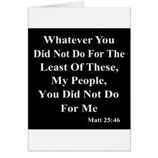 Carte Jésus et aide de ceux moins chanceux