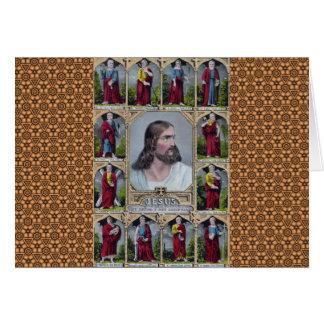Carte Jésus et les 12 apôtres