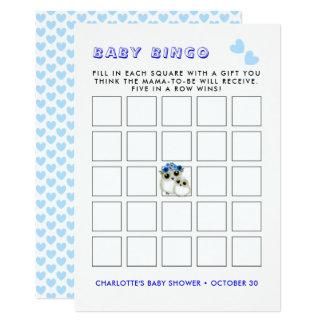 Carte Jeu mignon de bingo-test de douche de Boyl de bébé