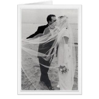 Carte Jeunes mariés sur la plage