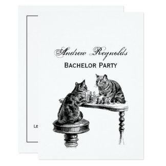Carte Jeux de société : Deux chats jouant une rencontre