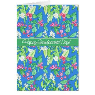 Carte Jolies fleurs de ressort le jour bleu de