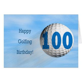 carte jouante au golf de 100th anniversaire
