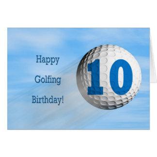 carte jouante au golf de 10ème anniversaire
