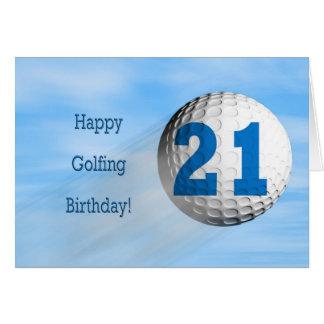 carte jouante au golf de 21ème anniversaire