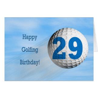 carte jouante au golf de 29ème anniversaire